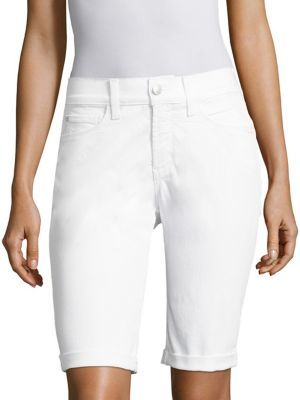 NYDJ Cotton Blend Solid Shorts $69 thestylecure.com