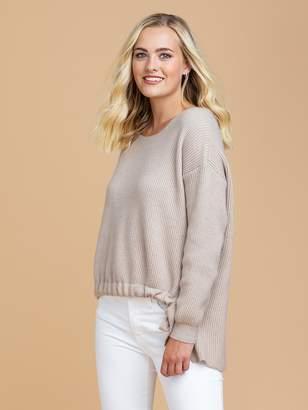 Goodnight Macaroon 'Reese' Drawstring Ribbed Crew Neck Sweater