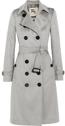 Burberry - Brushed-cashmere Trench Coat - Gray $2,795 thestylecure.com