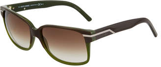 Christian Dior Plastic Rectangle Sunglasses, Green