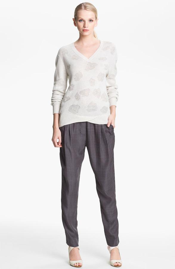 3.1 Phillip Lim Floral Jacquard Sweater