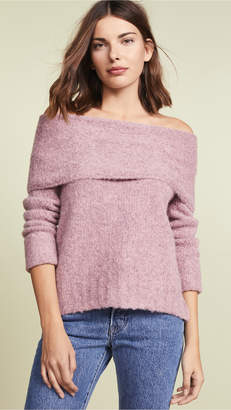 Vince Off Shoulder Pullover Sweater