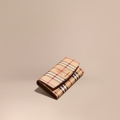 Burberry  Burberry Haymarket Check and Leather Continental Wallet