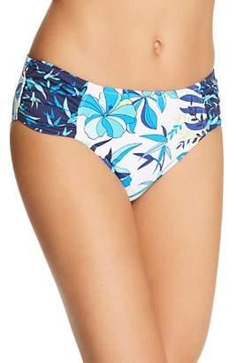 Tommy Bahama Tropical High Waist Shirred Hipster Bikini Bottom