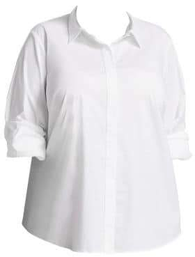 Lafayette 148 New York Lafayette 148 New York, Plus Size Phadedra Dress Shirt
