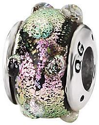 Prerogatives Sterling Purple Bubble Dichroic Glass Bead