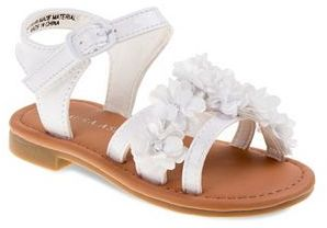Laura Ashley Toddler Girls' Ankle-Cuff Flower Sandals $29.99 thestylecure.com