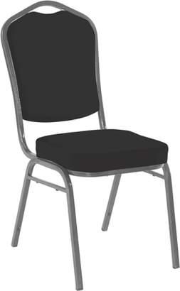 Iceberg Banquet Chair, 4-Pack, Crown, Black Solid/Silver Vein Frame