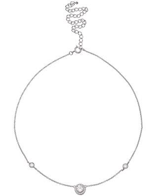 Primrose PRIMROSE Sterling Silver Cubic Zirconia Choker Necklace