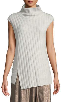 2d98dce1c28d6c Vince Mixed-Rib Wool-Cashmere Turtleneck Sweater