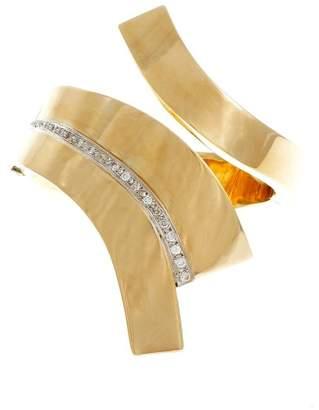 14K Yellow Gold 0.63ct. Diamond Vintage Bangle Bracelet
