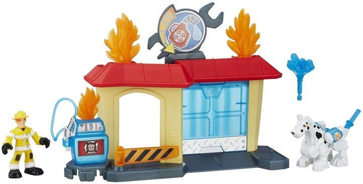 Transformers Playskool Heroes Rescue Bots Griffin Rock Garage