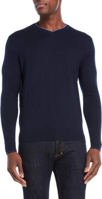 Forte Cashmere V-Neck Silk-Blend Sweater