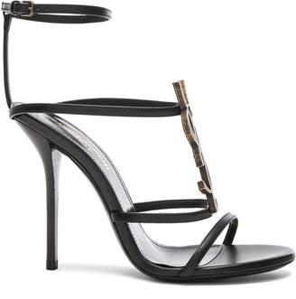 Saint Laurent Cassandra Monogramme Sandals