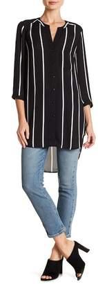 Daniel Rainn DR2 by Button Front Striped Tunic