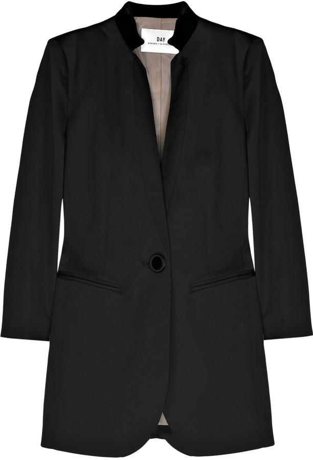 DAY Birger et Mikkelsen Silk-trimmed tuxedo jacket