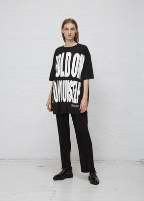 Haider Ackermann ara black hold on to yourself t-shirt $395 thestylecure.com