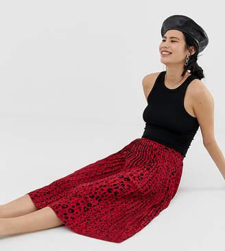 Pimkie midi skirt in red leopard print