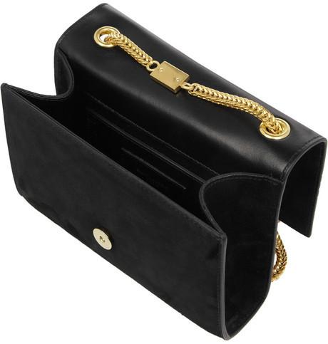 Saint Laurent Cassandre small suede shoulder bag