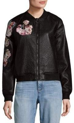 Joe's Jeans Forest Faux Leather Bomber Jacket