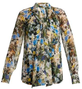 Erdem Rosabel Mariko Meadow Silk Blouse - Womens - Blue Print