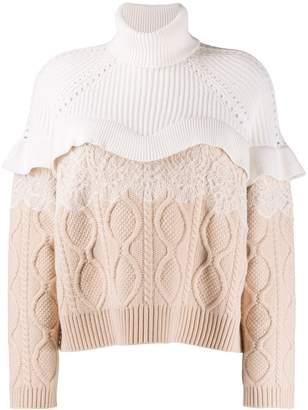 Fendi cable-knit dress