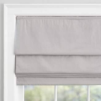 Pottery Barn Teen Washed Linen Roman Shade, 32&quot, Light Gray
