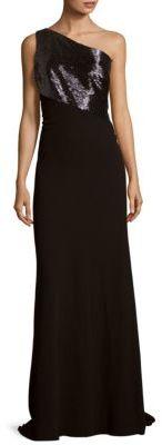 Carmen Marc ValvoOne-Shoulder Gown