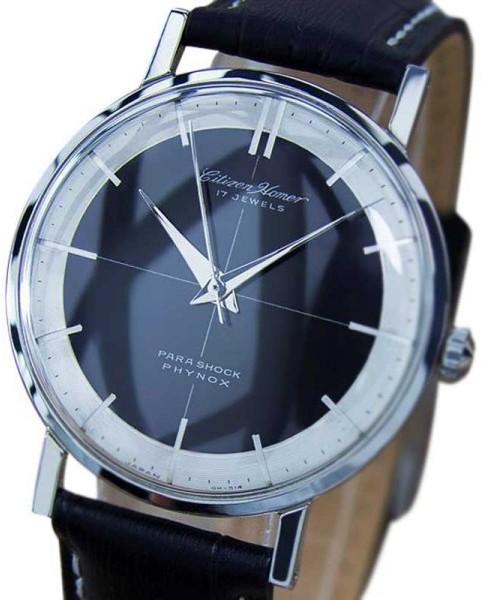 CitizenCitizen Homer Stainless Steel & Leather 34mm Watch