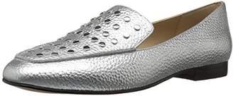 The Fix Women's Dakoda Silver Flat Head Stud Loafer