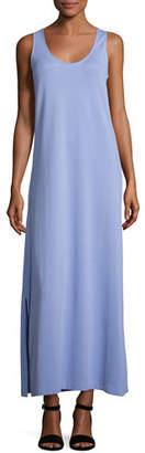 Joan Vass Pique Knit Long Tank Dress, Lavender $148 thestylecure.com