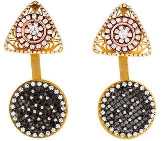 Erickson Beamon Crystal Geometric Drop Earrings