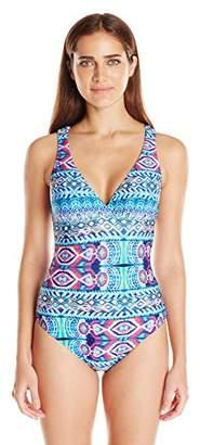 LaBlanca La Blanca Women's Multi Strap Cross Back One Piece Swimsuit