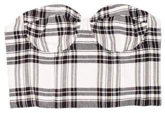 Alice + Olivia Plaid Bustier Top w/ Tags