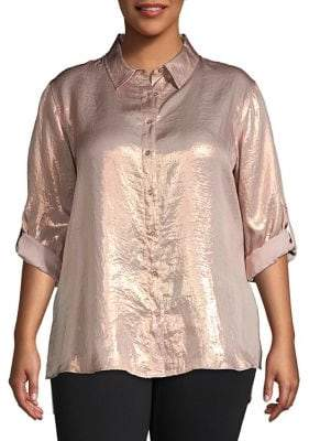 537183f41f007 Calvin Klein Pink Plus Size Tops - ShopStyle