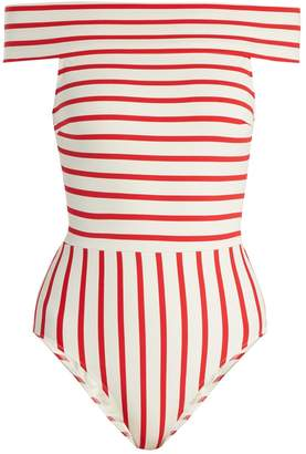 Solid & Striped The Vera off-the-shoulder swimsuit