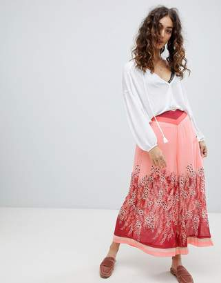 Free People Off The Grid grapic print culottes