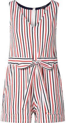 MDS Stripes Amanda Striped Cotton-jersey Playsuit