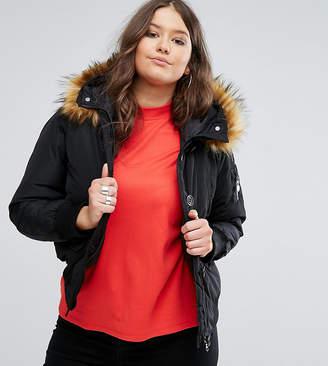 Koko Plus Jacket With Faux Fur Collar
