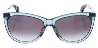 Calvin Klein Collection Resin Cat-Eye Sunglasses