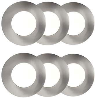 AEG 'A + AEG191137 Easydim Orbita Recessed LED Lights – Set of 6 x 500 Lumens Aluminium, 5 W, Set of 6, Nickel, 1 1/4