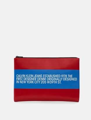 Calvin Klein est. 1978 patch leather pouch
