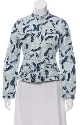 Yansi Fugel Nautical Print Jacket
