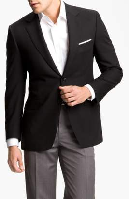 Canali Classic Fit Solid Wool Blazer