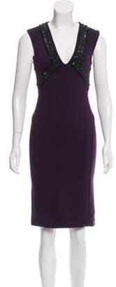 Amen Embellished Sheath Dress w/ Tags Aubergine Embellished Sheath Dress w/ Tags