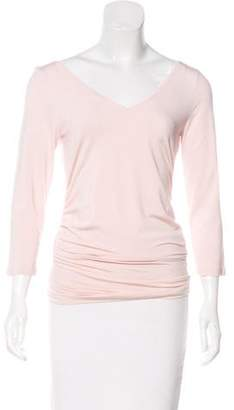 Brunello Cucinelli Ruched Long Sleeve Top
