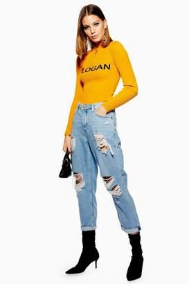 Topshop Bleach Super Ripped Hayden Jeans