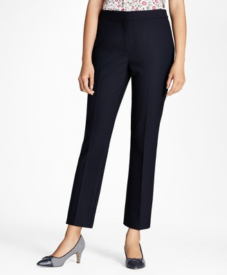 Brooks Brothers Stretch Wool-Blend Boot-Cut Pants