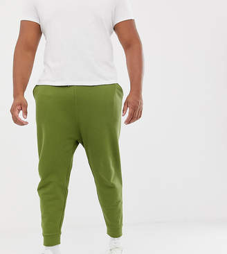 Asos DESIGN Plus drop crotch joggers in khaki