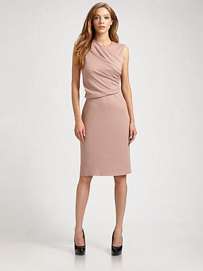 Joseph Ava Wool Faux Wrap Dress